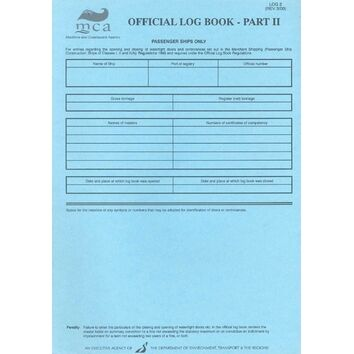 Official Log Book of a Passenger Ship