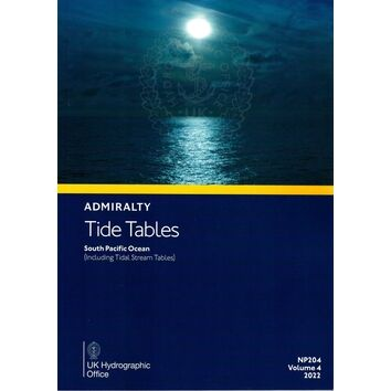 NP204-22 Admiralty Tide Tables South Pacific Ocean