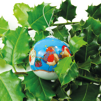 Emma Ball Robins Hand Painted Glass Decorative Bauble