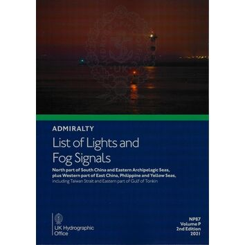 ADMIRALTY NP87 LIST OF LIGHTS & FOG SIGNALS (VOLUME P) 2021