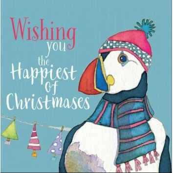 Emma Ball Puffin in Hat Christmas Cards (Pack of 6)