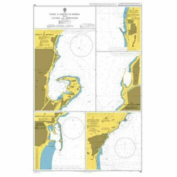 994 Catania and Approaches including Messina Admiralty Chart