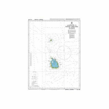 AUS606 Approaches to Cocos (Keeling) Islands Admiralty Chart