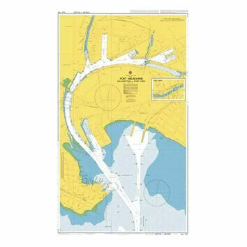 AUS154 Port Melbourne  Williamstown and River Yarra Admiralty Chart