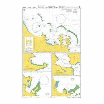 AUS683 Plans on East Coast Bougainville Island Admiralty Chart