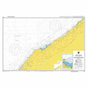 NZ73 Abut Head to Milford Sound Admiralty Chart