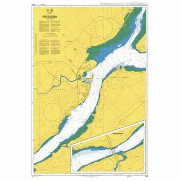4786 Saint Lawrence River, Port de Quebec Admiralty Chart