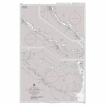 1982 Rio Parana - From the Mouths to Rosario Admiralty Chart