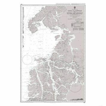 1287 Canal del Castillo to Estero San Esteban Admiralty Chart