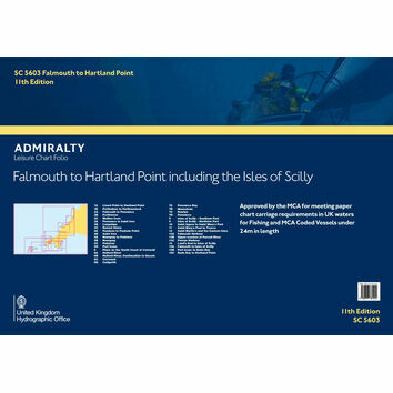 SC5603 Falmouth to Hartland Point inc. Isles of Scilly Admiralty Leisure Folio