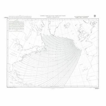 5095a North Atlantic Gnomonic Admiralty Chart