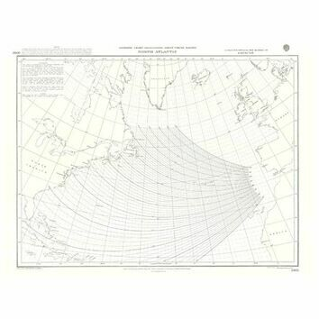 5095c North Atlantic Gnomonic Admiralty Chart