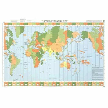 5006 The World - Time Zone Chart Admiralty Chart