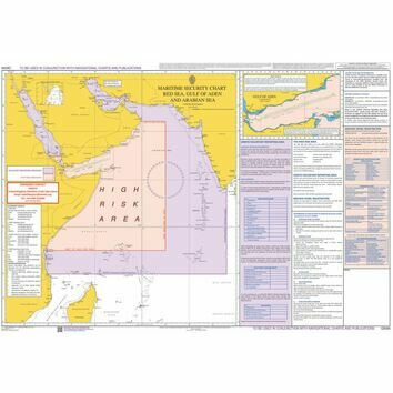 Q6099 Maritime Admiralty Security Chart - Red Sea, Gulf of Aden & Arabian Sea