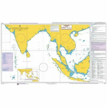 Q6112 Maritime Admiralty Security Chart, Karachi to Hong Kong