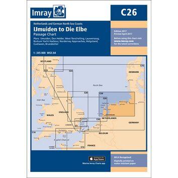 Imray C26 IJmuiden to Die Elbe Passage Chart