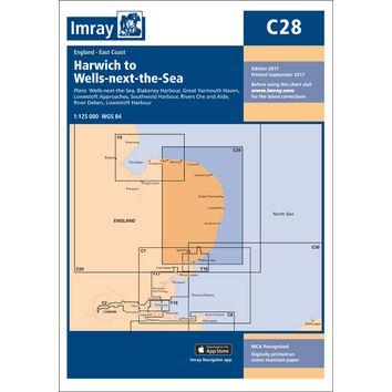 Imray Chart C28: Harwich to Wells-next-the-Sea