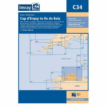 Imray Chart C34 Cap d'Erquy to Ile de Batz