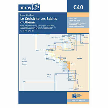 Imray Chart C40: Le Croisic to Les Sables d'Olonne