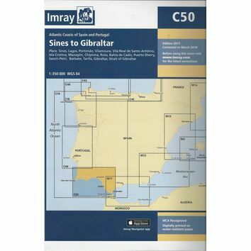 Imray Nautical Chart C50 Sines to Gibraltar