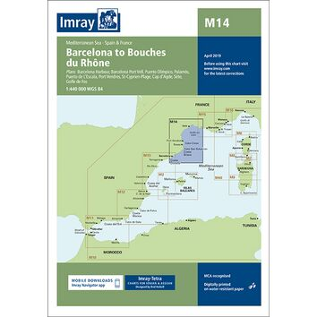 Imray Chart M14: Barcelona to Bouches du Rhone
