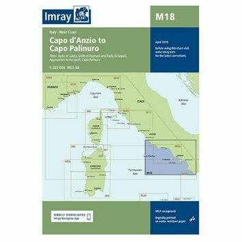 Imray Chart M18: Capo d\'Anzio to Capo Palinuro