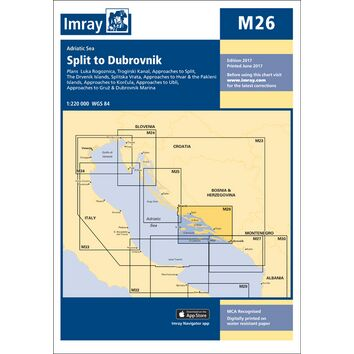 Imray Chart M26: Split to Dubrovnik