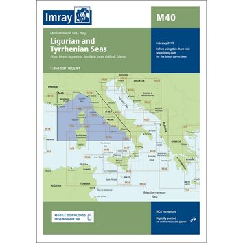 Imray Chart M40: Ligurian and Tyrrhenian Seas