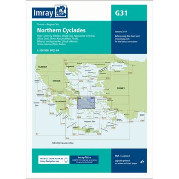 Imray Chart G31: Northern Cyclades