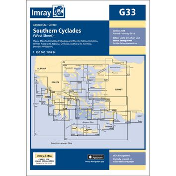 Imray Chart G33: Southern Cyclades (West Sheet)