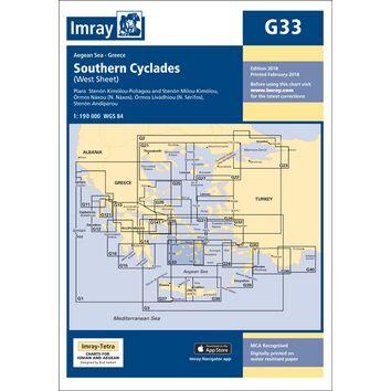 Imray Chart G33: Southern Cyclades (West Sheet)