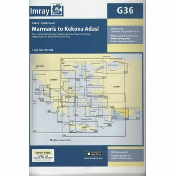Imray Chart G36: Marmaris to Kekova Adasi