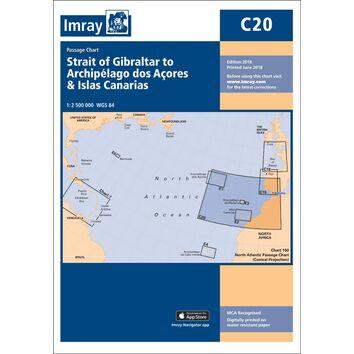 Imray Chart C20: Strait of Gibraltar to Arquipelago dos Açores & Islas Canaries