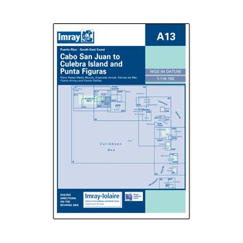 Imray Chart A13: Cabo San Juan to Culebra Island & Punta Figuras