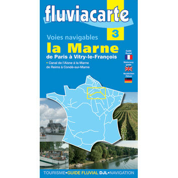 Imray Fluviacarte No.3. La Marne. Paris to Vitry Francois Guide