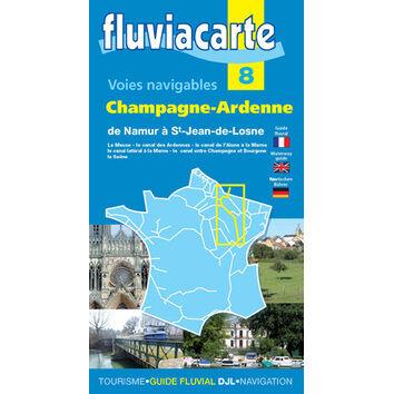 Imray Fluviacarte 8: Champagne-Ardenne - Namur to Bourgogne