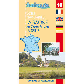 Fluviacarte No. 10. La Soane and La Seille Guide