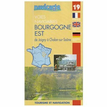 Imray Fluviacarte No. 19 Bourgogne East Guide