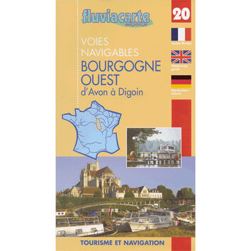 Imray Fluviacarte No. 20 Bourgogne West Guide