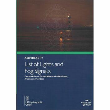 Admiralty NP77 List of Lights & Fog Signals (Volume D)
