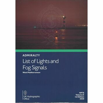 Admiralty NP78 List of Lights & Fog Signals (Volume E)