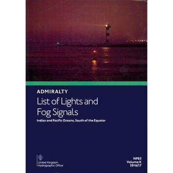 NP 83 Admiralty List of Lights. Volume K.