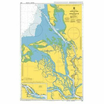 2294 Russia - Beloye More (White Sea), Approaches to Arkangle\'sk Admiralty Chart