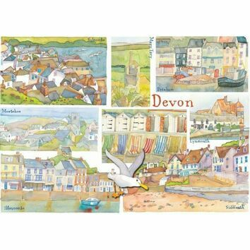 Emma Ball \'Devon\' Seaside Fridge Magnet