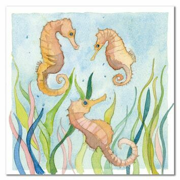 Emma Ball Gentle Seahorses Greetings Card
