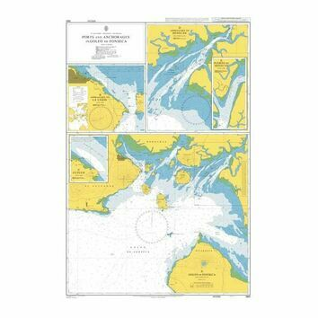 1961 Ports and Anchorages in Golfo de Fonseca Admiralty Chart