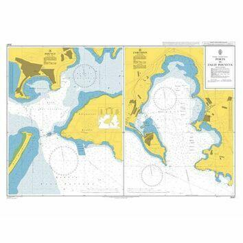 3047 Ports in Zaliv Pos'yeta Admiralty Chart