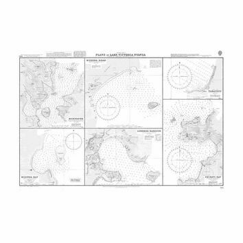 3693 Plans in Lake Victoria Nyanza Admiralty Chart