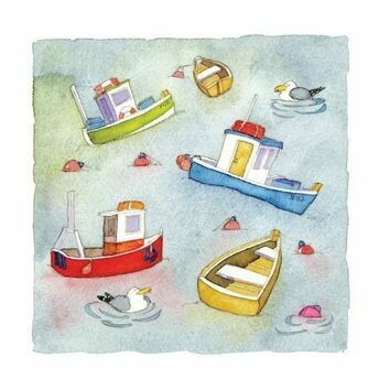 Emma Ball 'Floating Away' Mini Cards (Pack of 10)