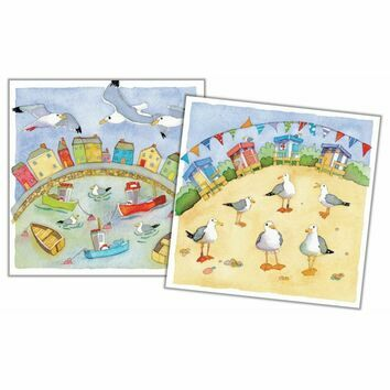 Emma Ball 'A Day At The Seaside' Mini Cards (Pack of 10)
